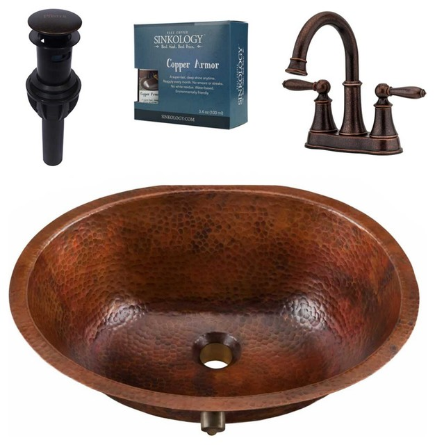 Freud Undermount Copper Sink With Courant Faucet & Drain.
