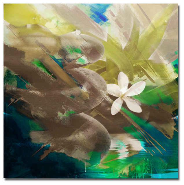 Ready2hangart abstract stone spa ii canvas wall art for Abstract salon of the arts