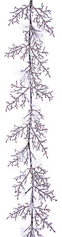 Silk Plants Direct Snowflake And Twig Garland, Set Of 4.