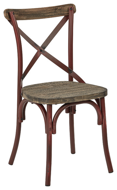 Bellport Dining Chair, Antique Red.