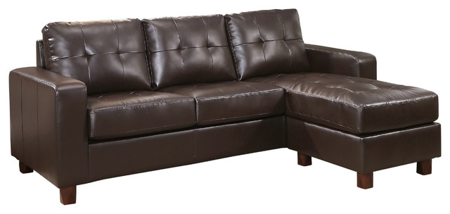 Swell Abbyson Living Taylor Leather Reversible Sectional Espresso Ncnpc Chair Design For Home Ncnpcorg