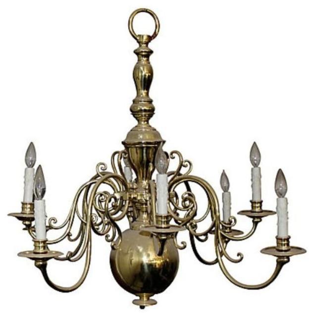 Vintage Eight Arm Brass Chandelier 3500 Est Retail 1500 – Vintage Brass Chandeliers