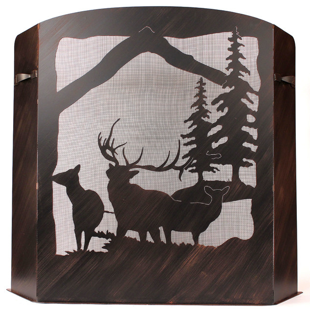 Small Elk Scene Fire Place Screen.