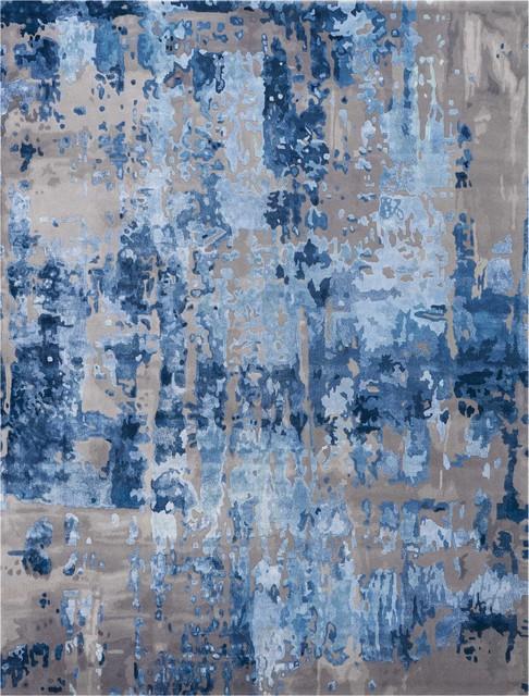 """Nourison Prismatic Blue/Gray Area Rug, 9'9""""x13'9"""""""