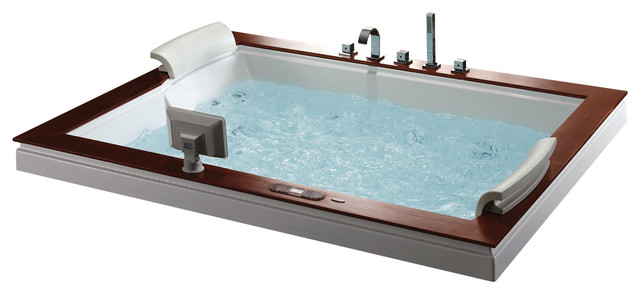 whirlpool tub. Burlington Luxury Whirlpool Tub modern bathtubs  Modern Bathtubs by