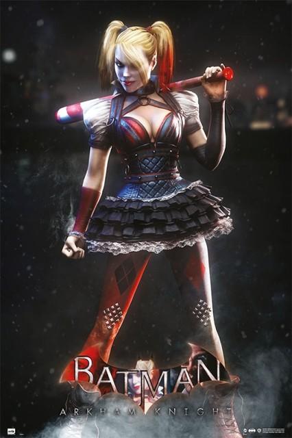 Batman Arkham Knight Harley Quinn Kiss Poster 3