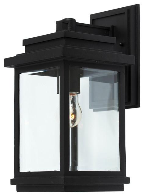 Freemont 1-Light Outdoor Wall Lights, Black.