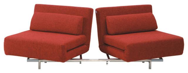 Premium Sofa Bed In Red Fabric.
