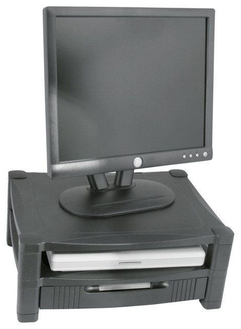Shop Houzz Kantek Two Tier Adjustable Monitor Stand With Drawer