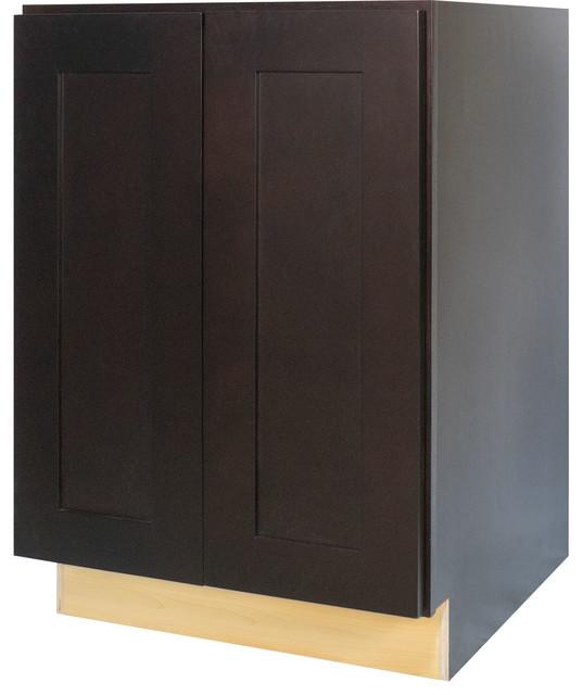 Everyday Cabinets Dark Espresso Shaker Full Height Door Base Kitchen Cabinet - Kitchen Cabinetry ...