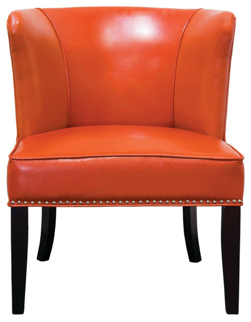 Incredible Faux Leather Contemporary Living Room Accent Chairs Set Of 2 Orange Pdpeps Interior Chair Design Pdpepsorg