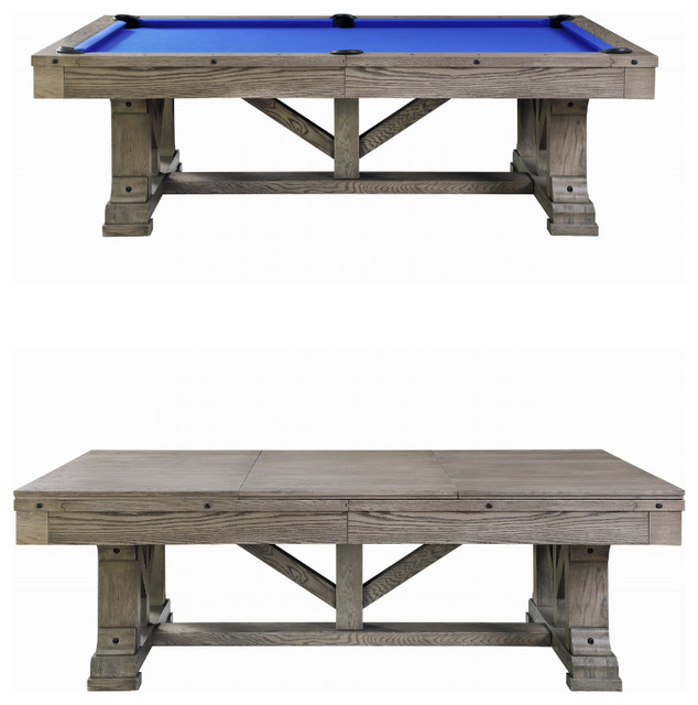 Cross Creek Slate Pool Table W Dining Top 7ft With