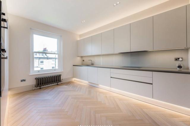 Zig-Zag Parquet Hardwood Flooring contemporary