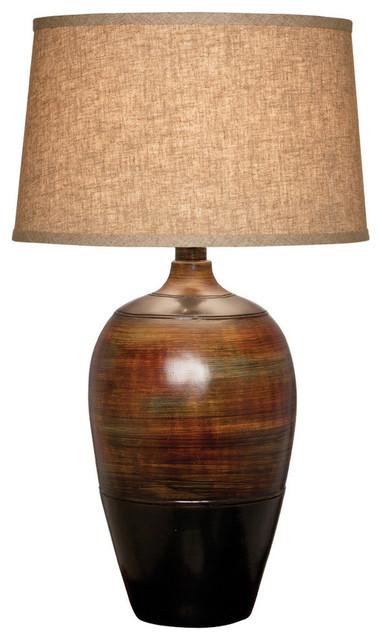 Haze Desert Table Lamp With Shade, Rainbow Walnut