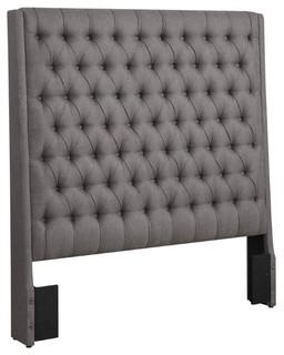 Coaster Upholstered California King Panel Headboard, Gray