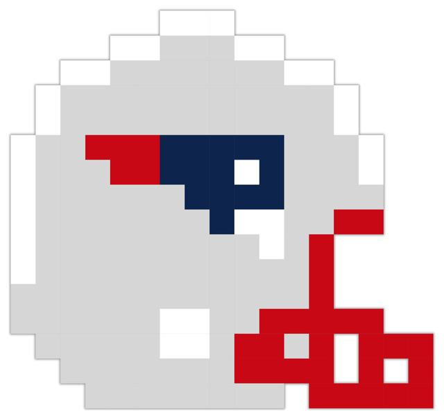 ArtsyCanvas New England Patriots Football Helmet Pixel Art  : wall decals from www.houzz.com size 640 x 604 jpeg 31kB