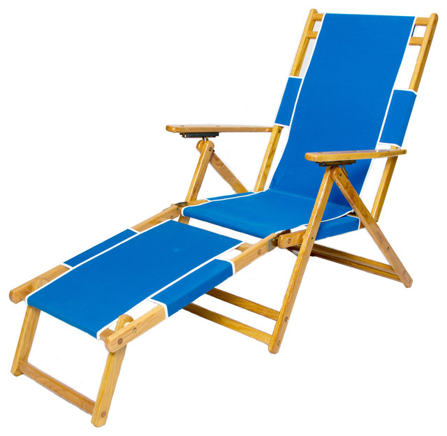 Beau Sunrise Beach Chair U0026 Footrest   Pacific Blue