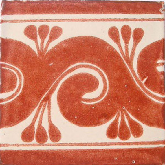 "4""x4"" Mexican Ceramic Handmade Tile C060."