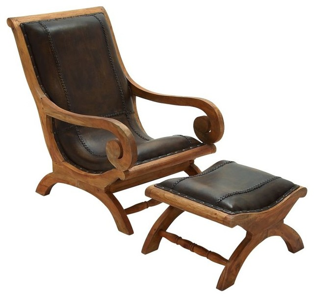 Prime Elegant Style Wood Leather Chair Ottoman Set Of 2 Home Decor Gmtry Best Dining Table And Chair Ideas Images Gmtryco