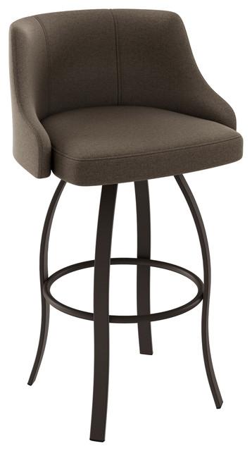 Pleasing Amisco Crofton Swivel Stool Dark Brown Soft Medium Brown Counter Height Bralicious Painted Fabric Chair Ideas Braliciousco