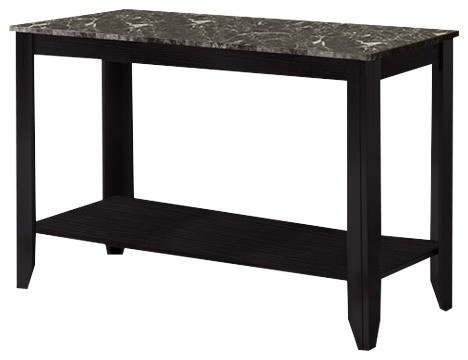 how to fix kitchen faucet monarch specialties console table black gray marble look 24244