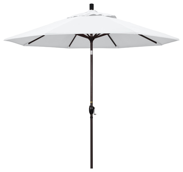 Aba Umbrella, Stark White Olefin Canopy, 9'
