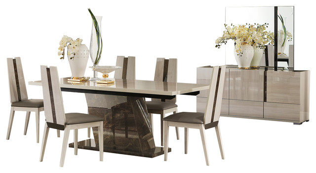 Charming ALF Teodora 9 Piece Dining Set Contemporary Dining Sets