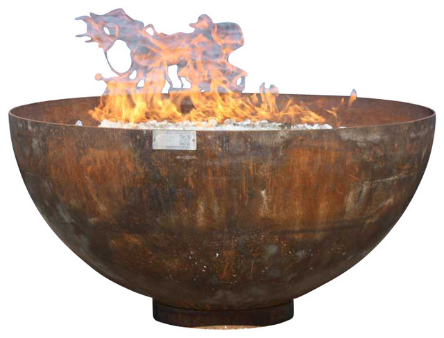 Big Bowl O Zen Sculptural Firebowl Rustic Fire Pits