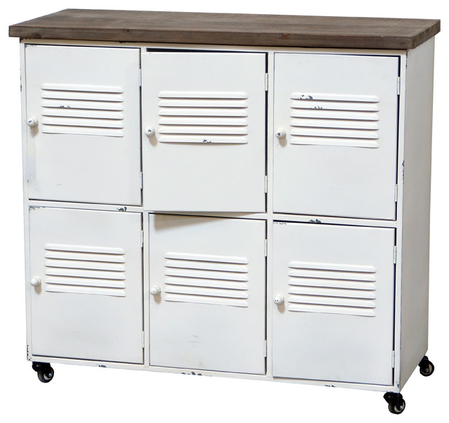 VIP Home and Garden 6-Cabinet Metal Locker - Accent Chests And Cabinets   Houzz