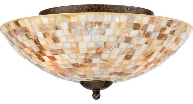 Quoizel Monterey Mosaic X-Lm3161ym Traditional Flush Mount Ceiling Light.