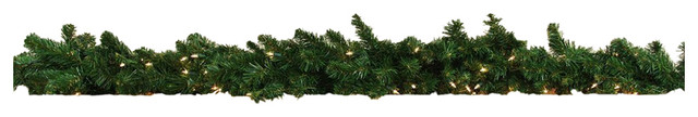 6&x27;x12 Pre-Lit Middleton Artificial Christmas Garland, Clear Lights.