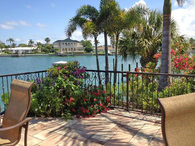 Traditional style waterfront backyard transformation ... on Waterfront Backyard Ideas id=33963