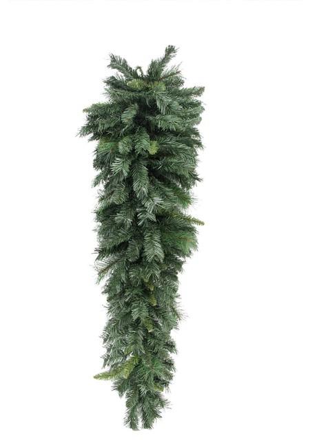 48 Mixed Long Needle Pine Artificial Christmas Teardrop Swag, Unlit.