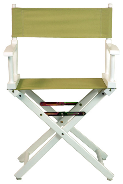 Fantastic 18 Directors Chair With White Frame Olive Canvas Ncnpc Chair Design For Home Ncnpcorg
