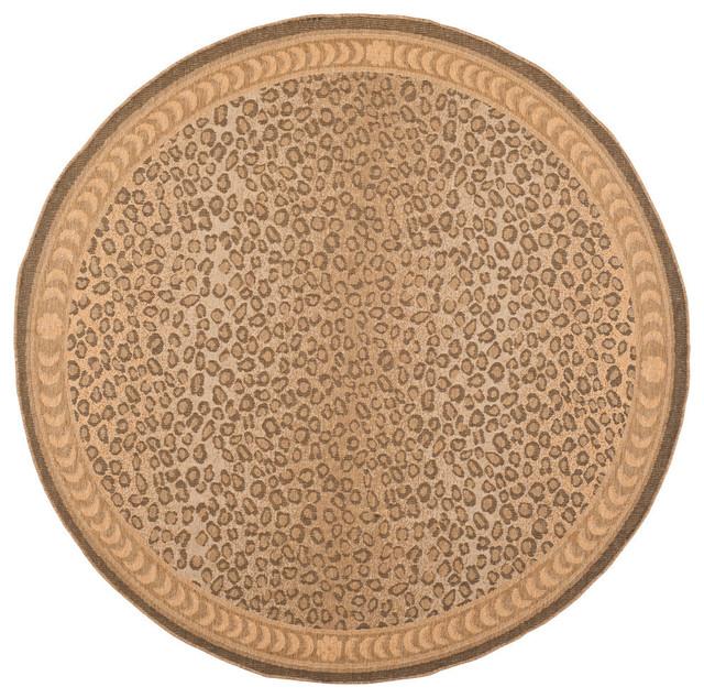 """Safavieh Bradbury Rug, Natural And Gold, 7&x27;10""""x7&x27;10"""" Round."""