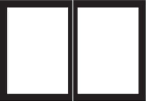 Ecs Dvdb36cbl Rectangle Door Set, Matte Black.