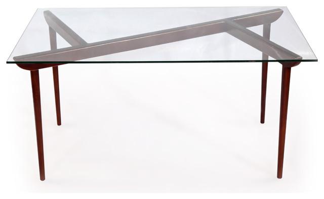 Karl Deco Timber Ko Midcentury Modern Dining Table Walnut Legsgl Top