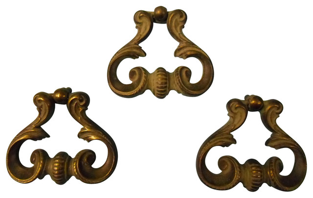 Susan Field 1 Vintage Keeler Heavy Cast Metal Swirled Drop Drawer Pull - Cabinet And Drawer ...