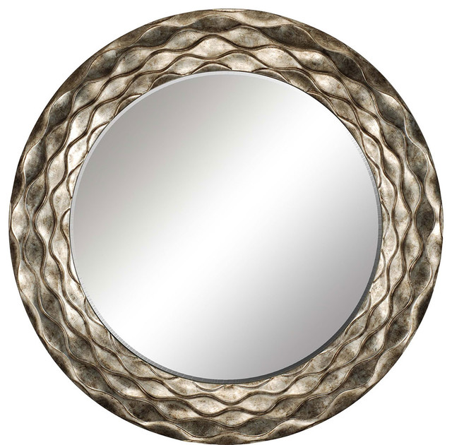 Round Waves Mirror Contemporary Wall Mirrors By