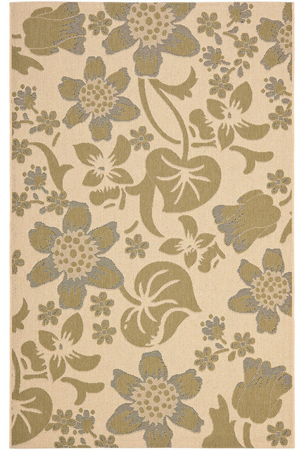 Courtyard Cy7014 Area Rug Tropical Outdoor Rugs By