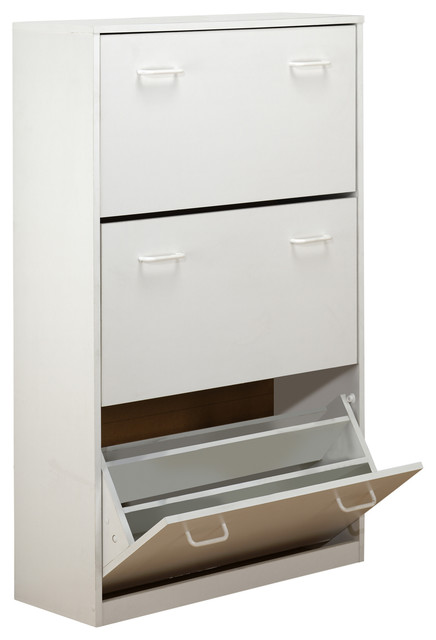 Triple Shoe Cabinet - Contemporary - Shoe Storage - by ...