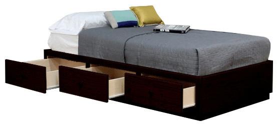 Luka Captain's Bed, Twin, Espresso.