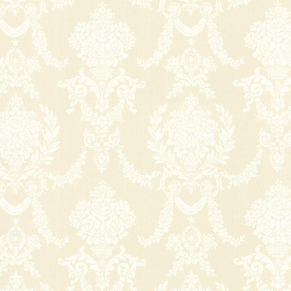 Sophia Yellow Damask Wallpaper Swatch