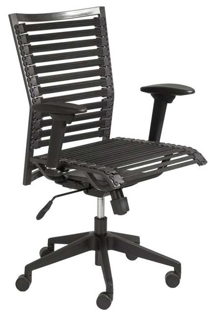 Bungie Pro Flat High Back Office Chair, Black.