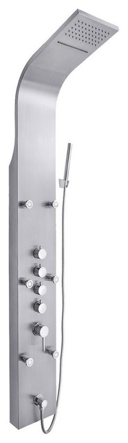 Akdy Shower Panel Tower Overhead Rain Waterfall Spa Jet Stainless Steel Ak-Z9821