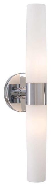 Saber bathroom light chrome 20 modern bathroom for Modern chrome bathroom vanity lighting