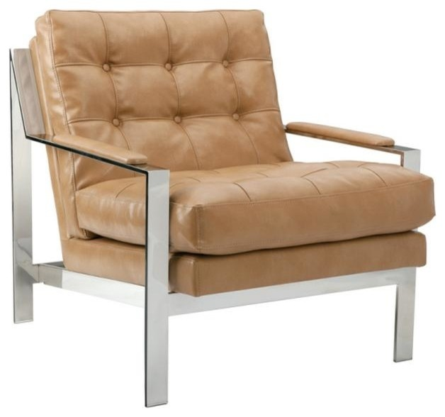 modern masculine armchair with stainless steel frame peanut nobility