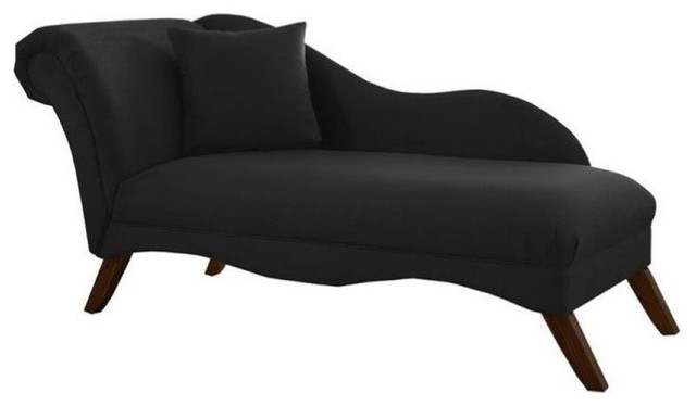 Pemberly Row Chaise Lounge, Black.