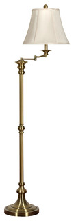Swing Arm Floor Lamp, Antique Brass Finish