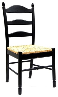 Ladder Back Dining Chair w Rush Seat